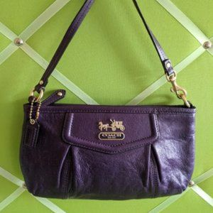 Coach Leather Clutch/ Mini Bag - Black Violet